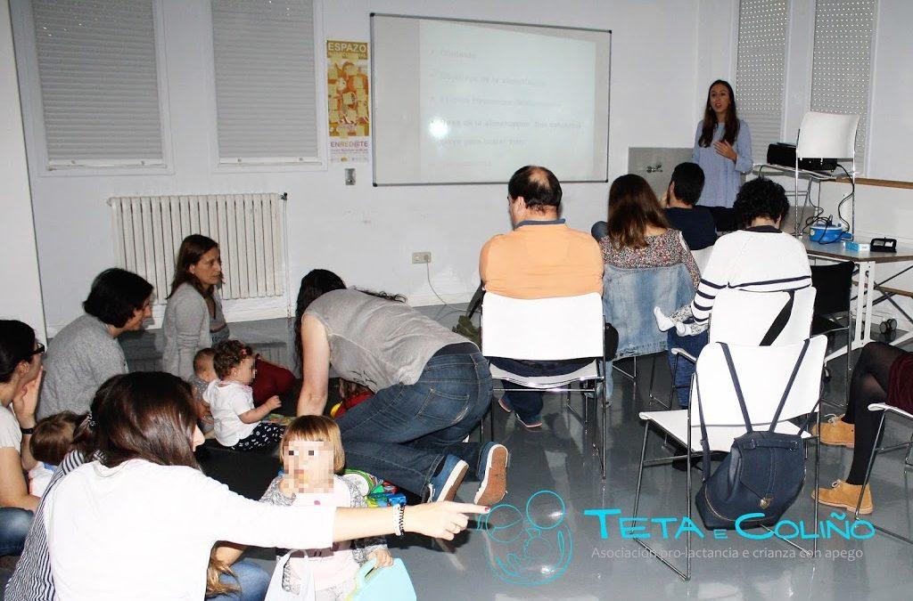 Obradoiro «Alimentación saudable» e Charla FP «Crianza con apego». Sede A Coruña. Outubro 2017