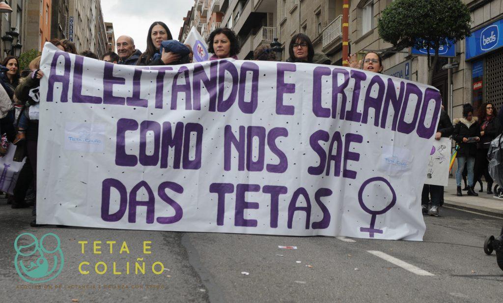 4 e 8 de Marzo 2018 Vigo, Manifestación é Folga Feminista